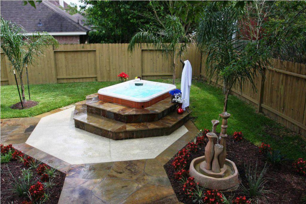 Small Backyard Ideas with Hot Tub 2