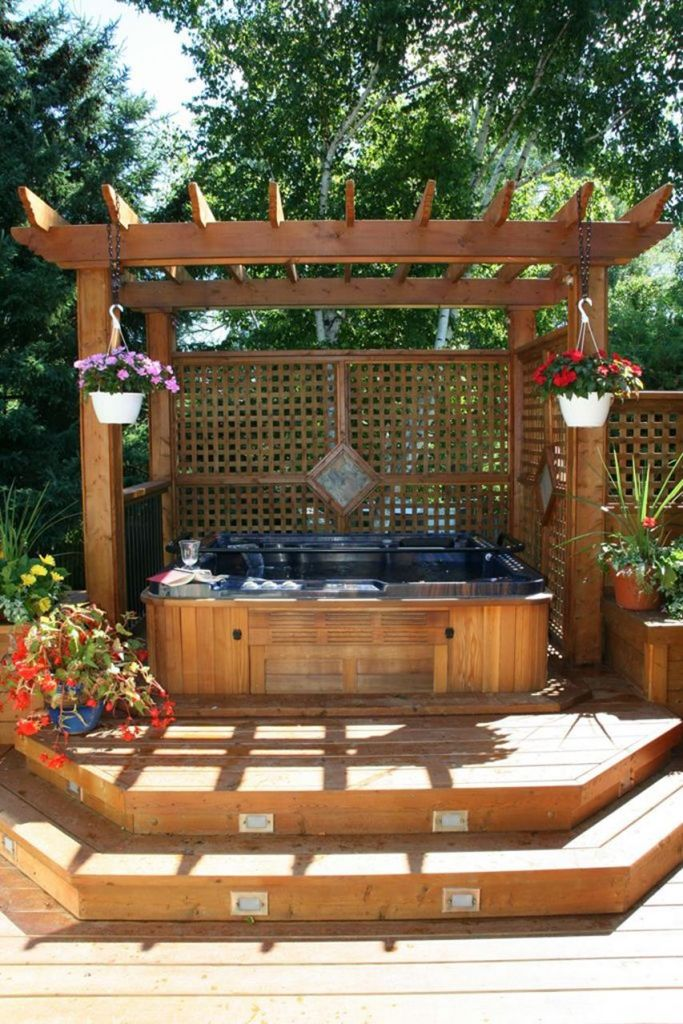 Small Backyard Ideas with Hot Tub 7