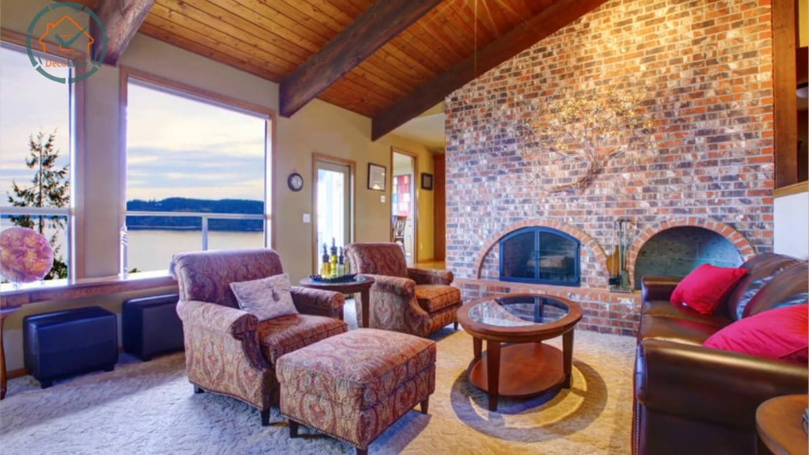 Living Room Smooth Stone Interior Walls 27