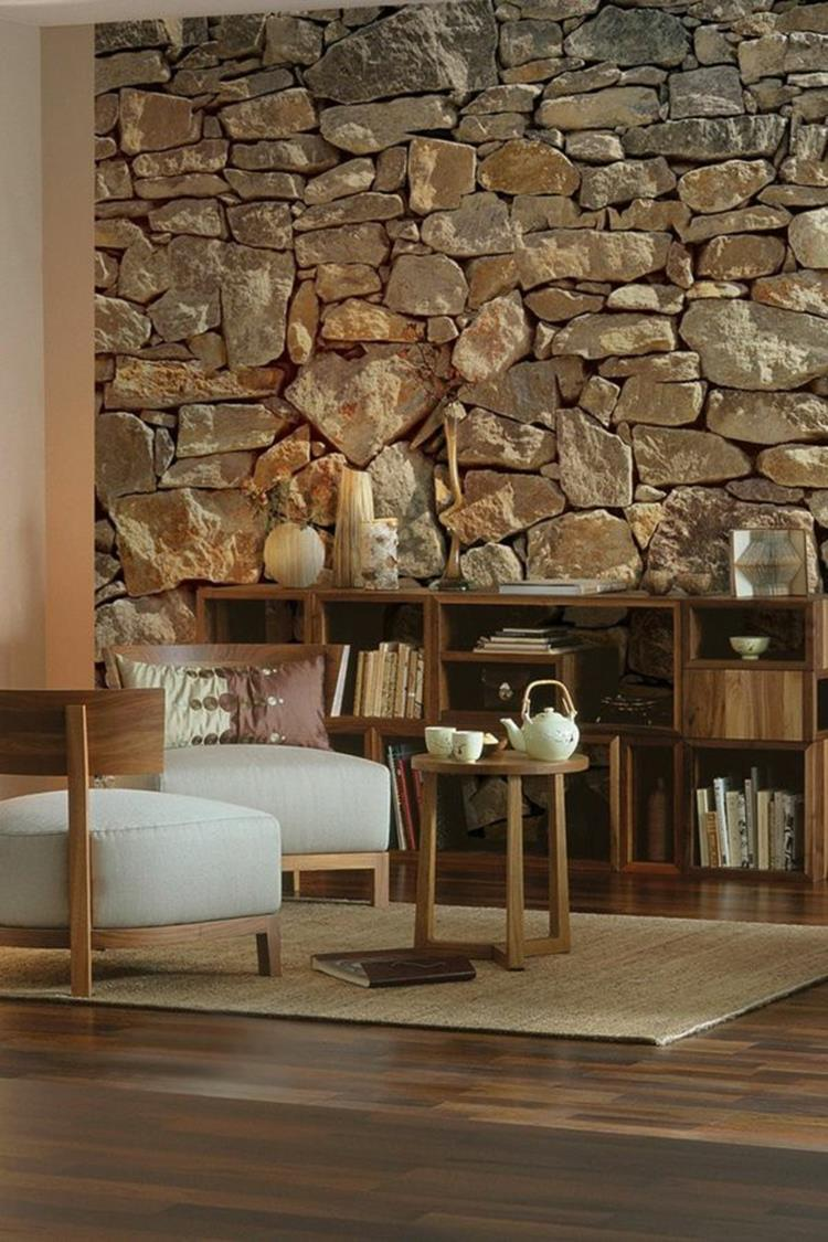Living Room Smooth Stone Interior Walls 33