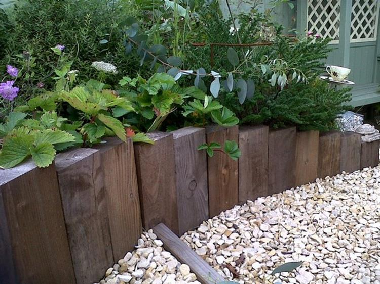 Wood Lawn Edging Ideas 10