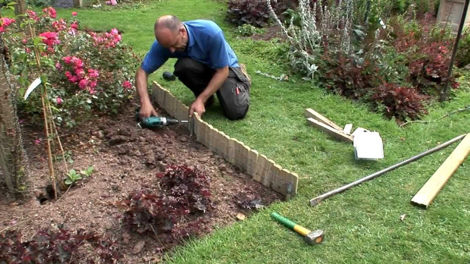 Wood Lawn Edging Ideas 16