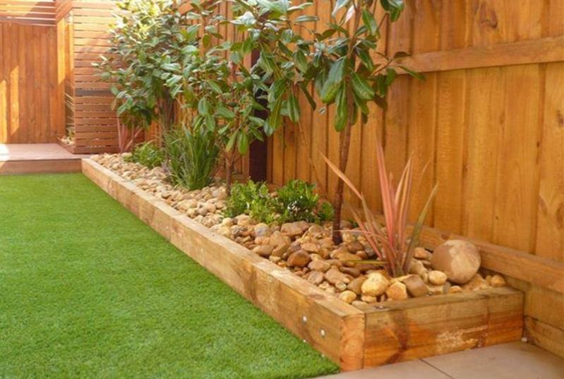Wood Lawn Edging Ideas 20