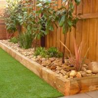 Best Beautiful and Cheap Wood Lawn Edging Ideas