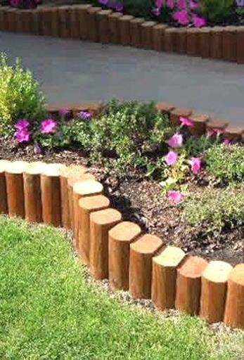 Wood Lawn Edging Ideas 27