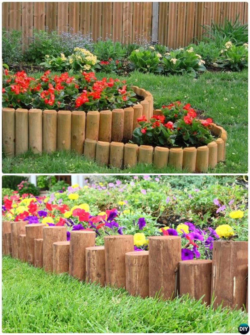 Wood Lawn Edging Ideas 3