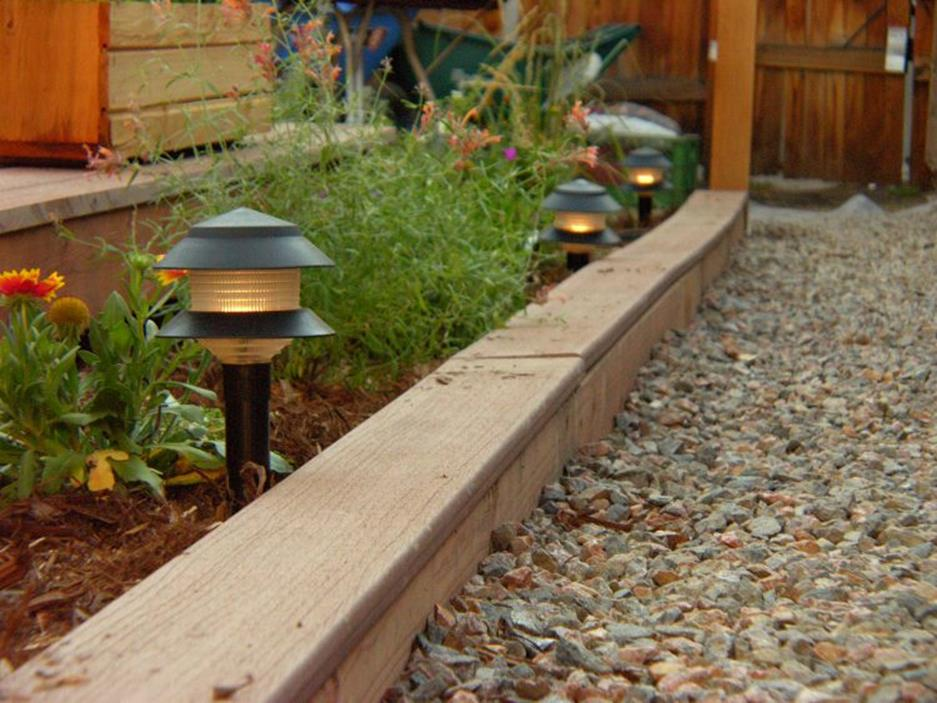Wood Lawn Edging Ideas 6