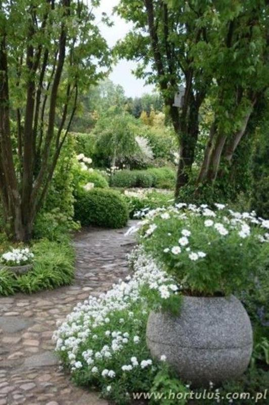 Beautiful Stone Path around Flowers 16