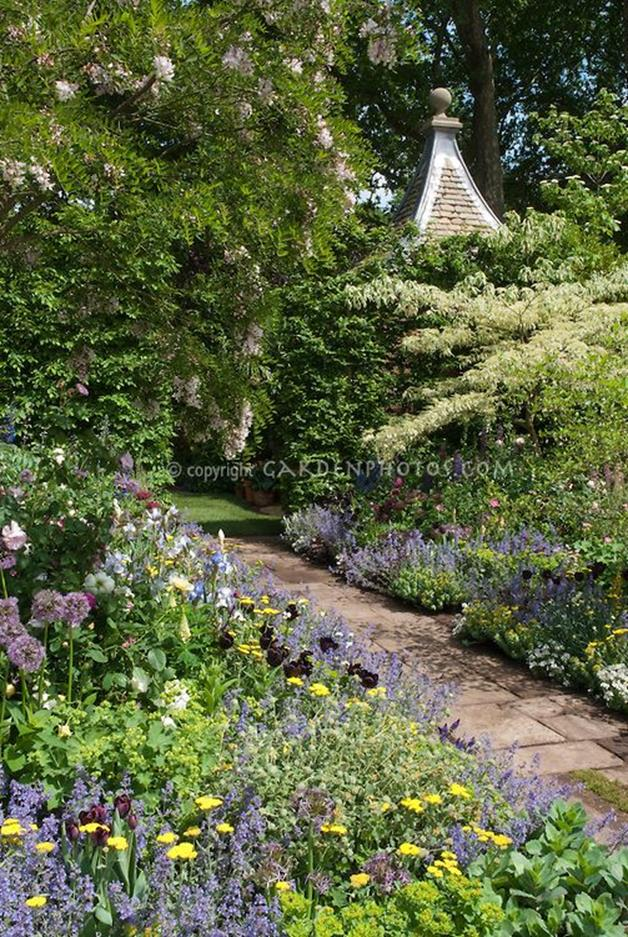 Beautiful Stone Path around Flowers 17