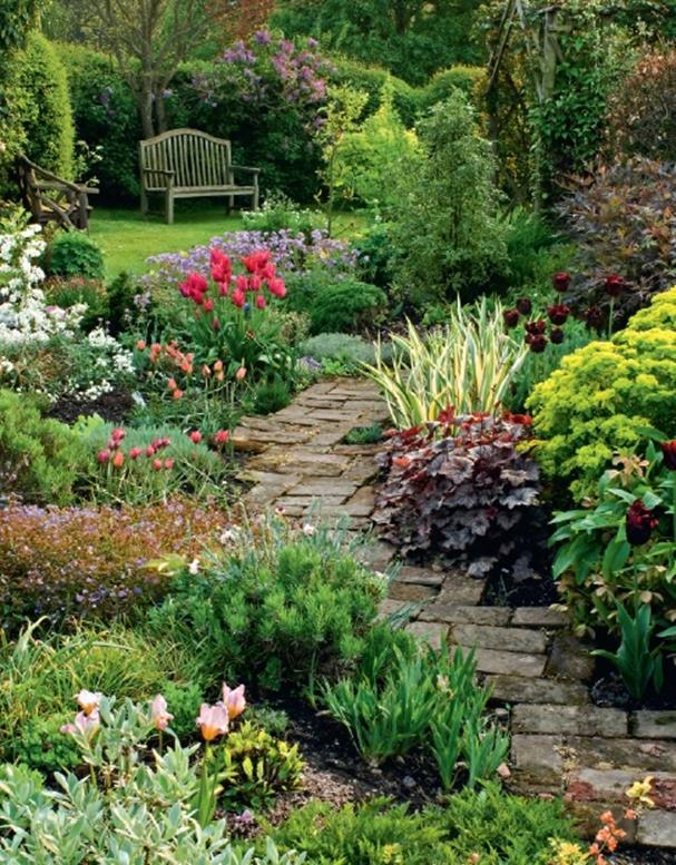 Beautiful Stone Path around Flowers 38