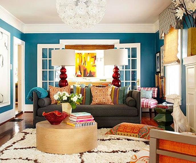 Living Room Accent Wall Color Combinations 13