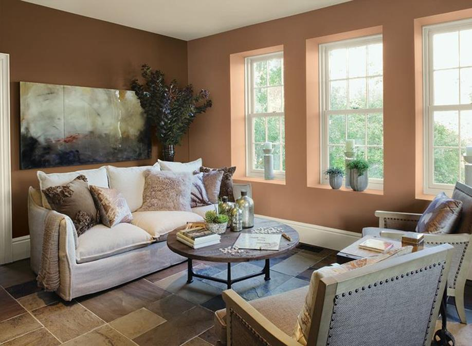 Living Room Accent Wall Color Combinations 8