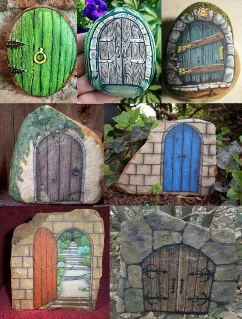 Simple Painted Rock Ideas For Garden 2