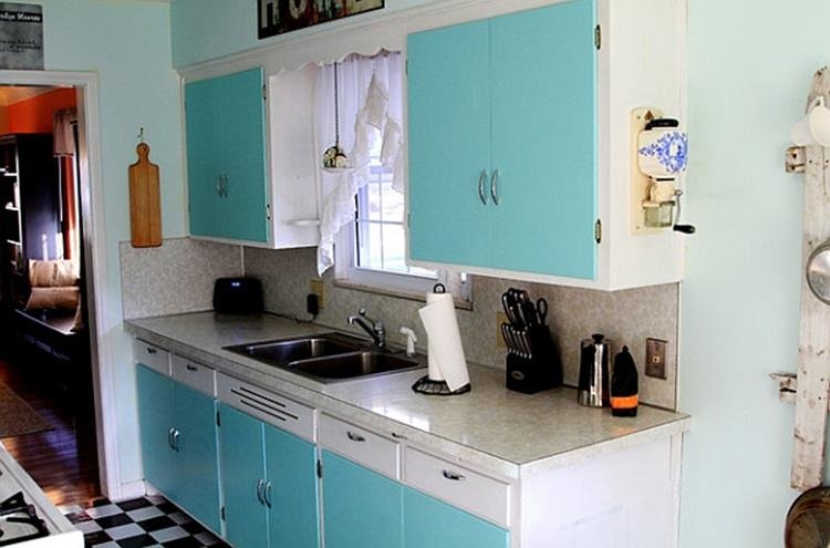 Awesome Retro Style Kitchen Design 19