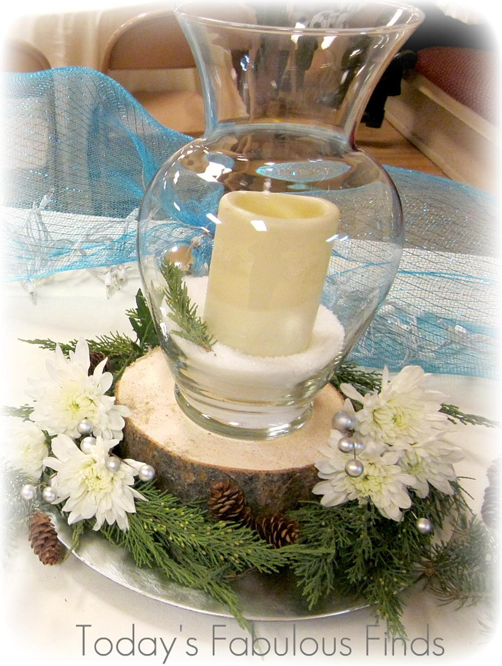 Winter Rustic Centerpieces 12