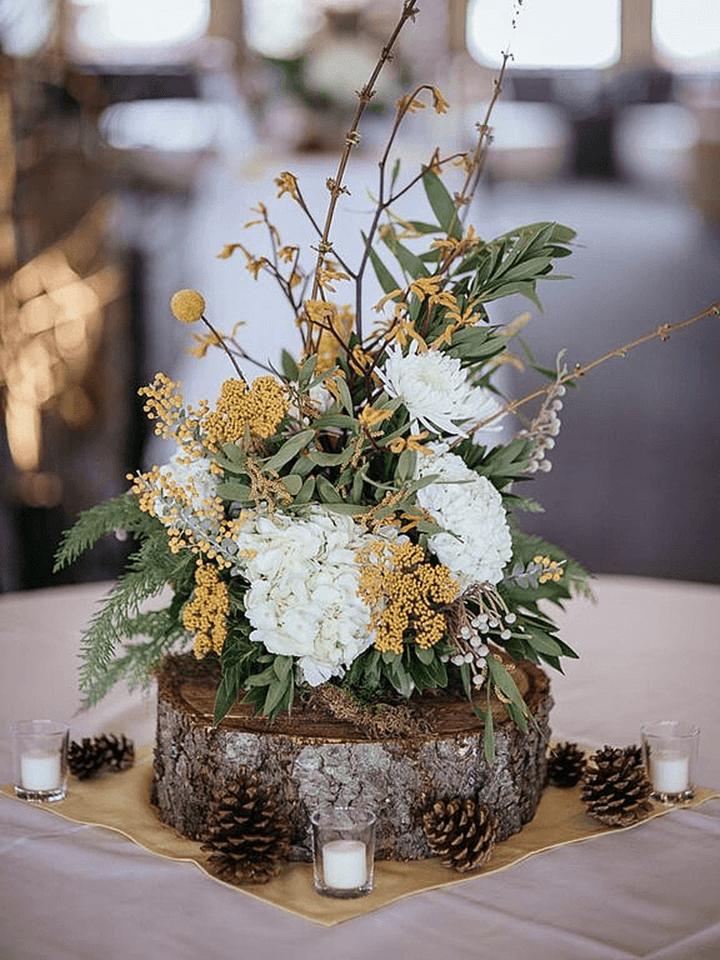 Winter Rustic Centerpieces 13