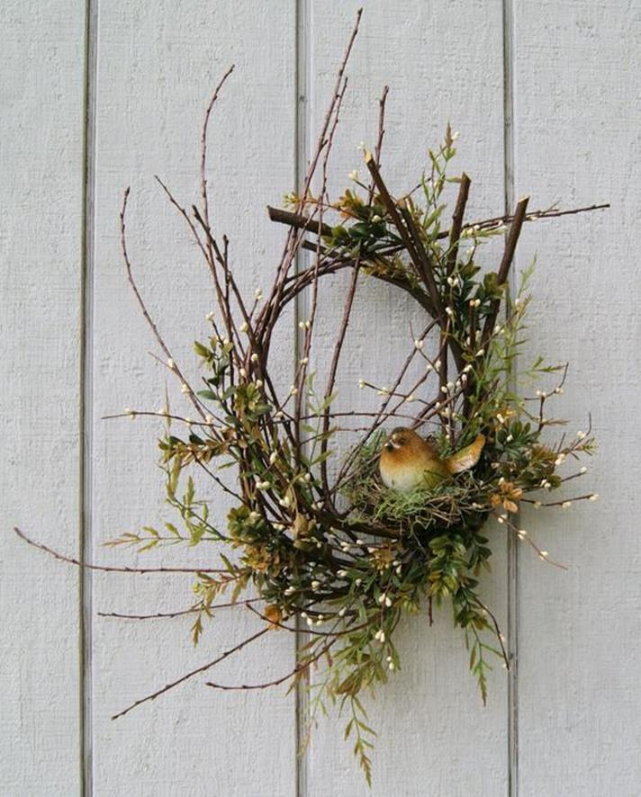 Beautiful Bird Twig Wreath for Your Sweet Home 12