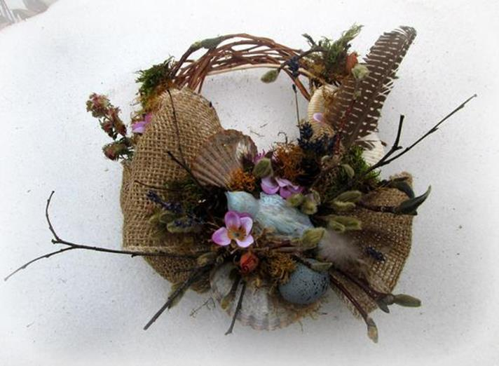 Beautiful Bird Twig Wreath for Your Sweet Home 15