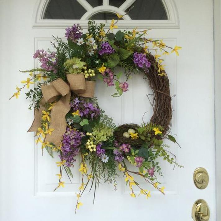 Beautiful Bird Twig Wreath for Your Sweet Home 17