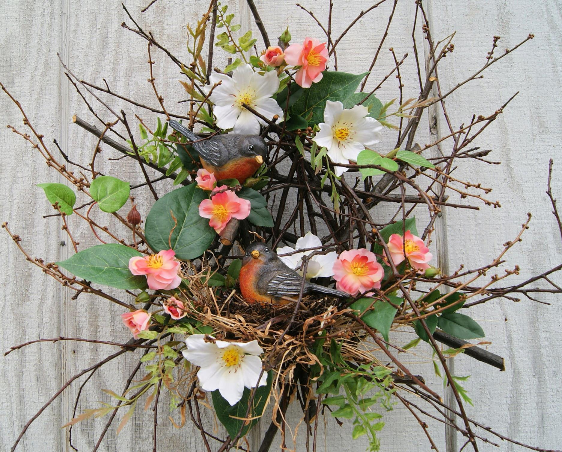 Beautiful Bird Twig Wreath for Your Sweet Home 21