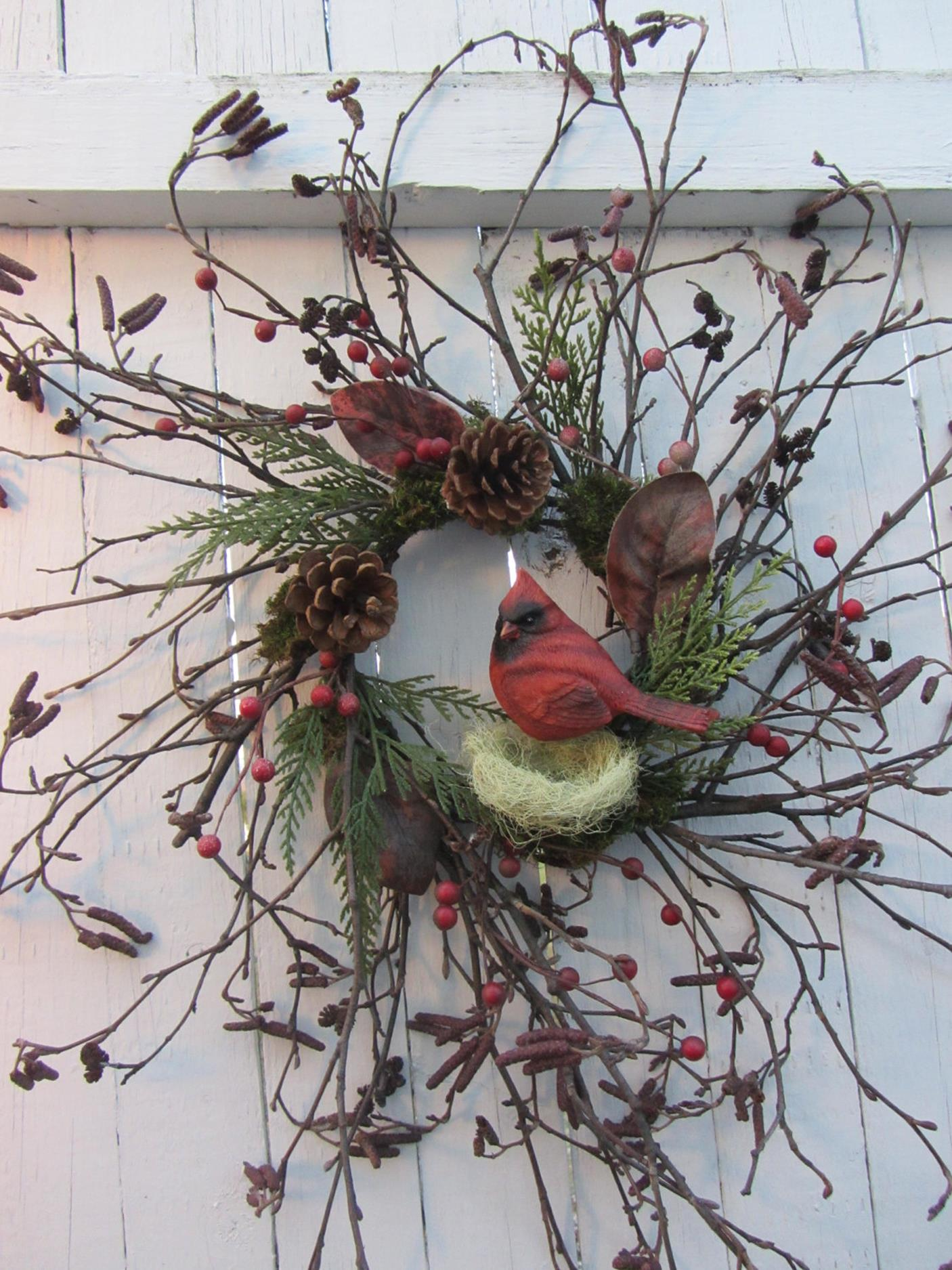 Beautiful Bird Twig Wreath for Your Sweet Home 22