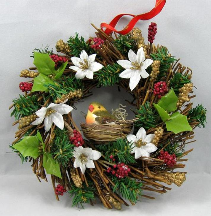 Beautiful Bird Twig Wreath for Your Sweet Home 8
