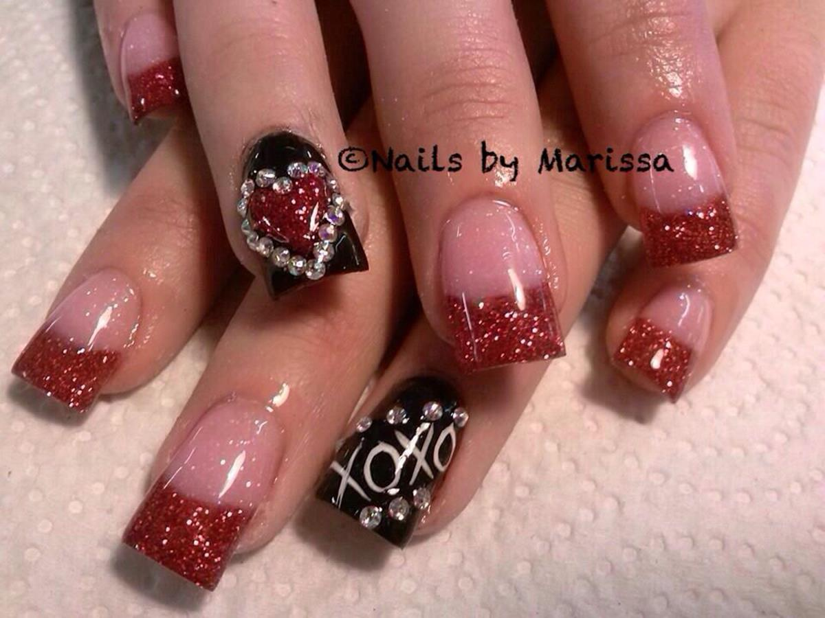 Gorgeous Valentines Day Acrylic Nail Designs 1