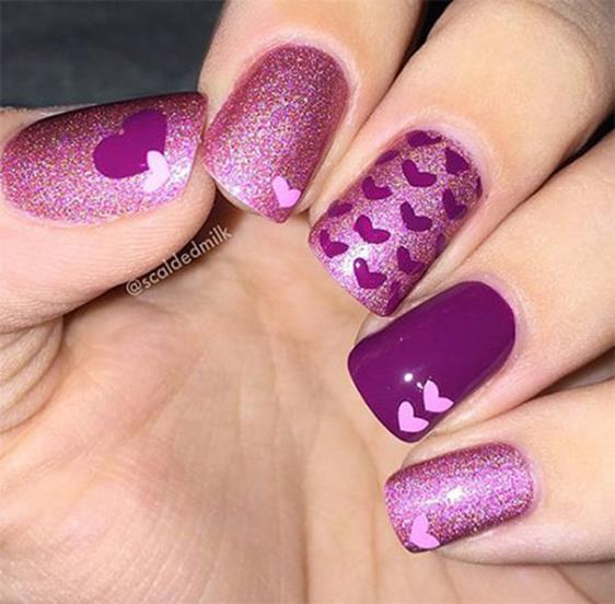 Gorgeous Valentines Day Acrylic Nail Designs 10