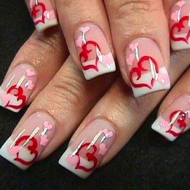 Gorgeous Valentines Day Acrylic Nail Designs 3
