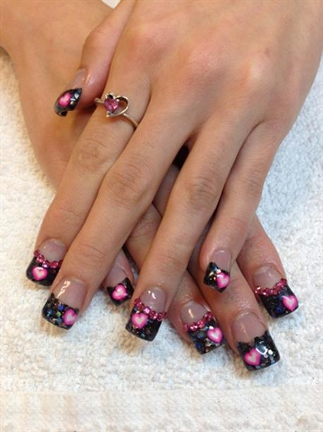 Gorgeous Valentines Day Acrylic Nail Designs 32