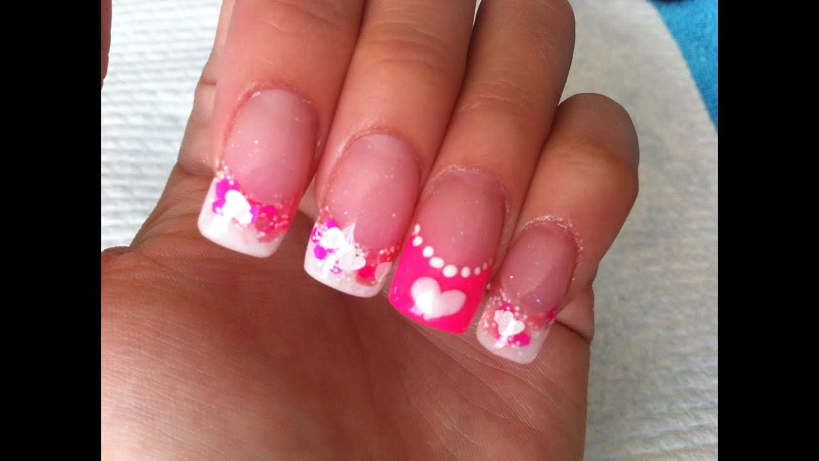Gorgeous Valentines Day Acrylic Nail Designs 33