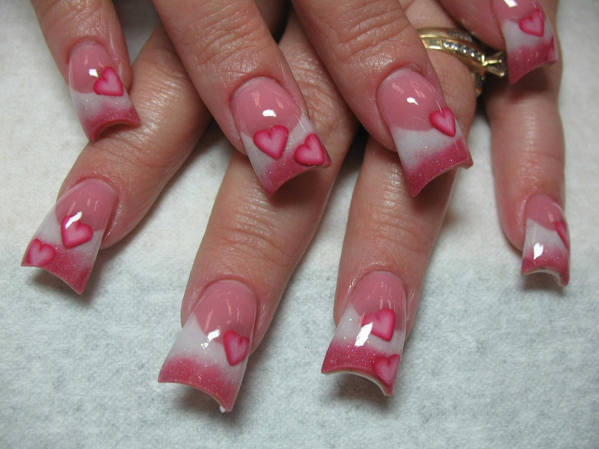 Gorgeous Valentines Day Acrylic Nail Designs 39