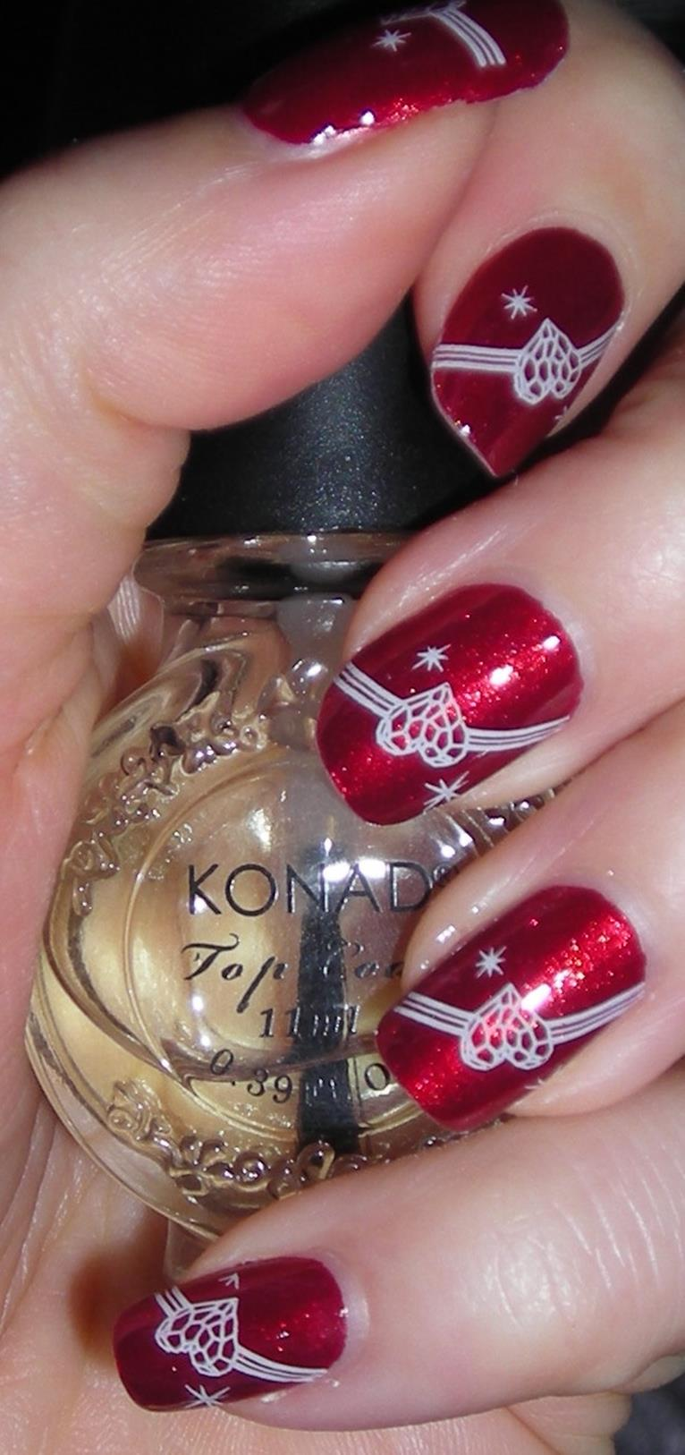 Gorgeous Valentines Day Acrylic Nail Designs 43