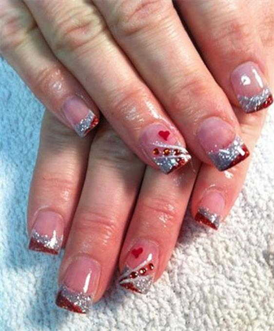 Gorgeous Valentines Day Acrylic Nail Designs 5