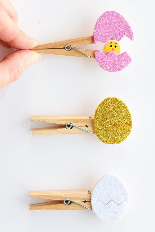Peek a boo Clothespin Eggs