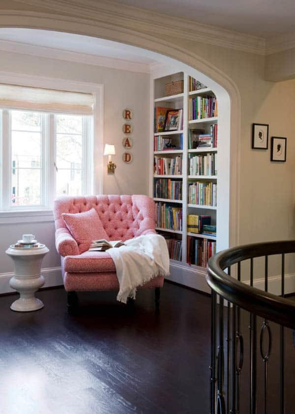 Cozy And Decorated Reading Nooks That Will Inspire You To Design Your Own Little Corner 24