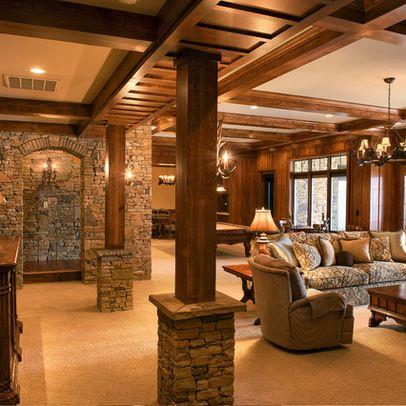 Lovely Family Room Wood Ceiling Design 10