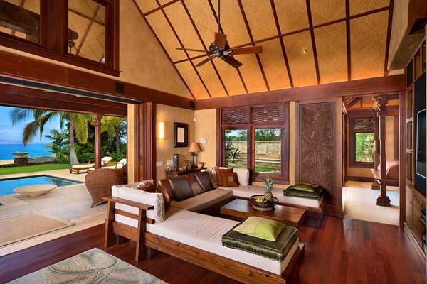 Lovely Family Room Wood Ceiling Design 18