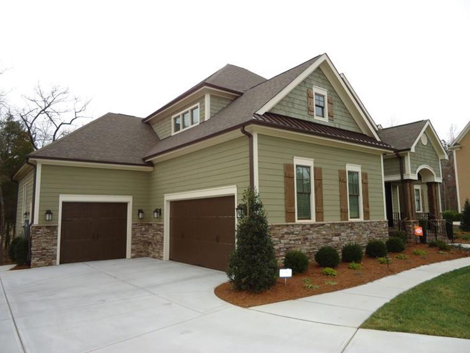 Stunning Exterior House With Brown Roof Colors 7