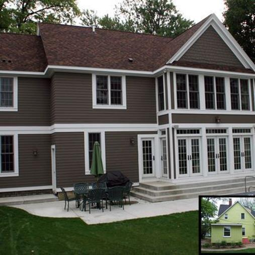 Stunning Exterior House With Brown Roof Colors 9