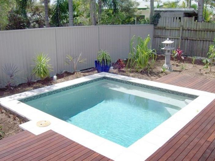 Affordable Small Backyard with Plunge Pool 23