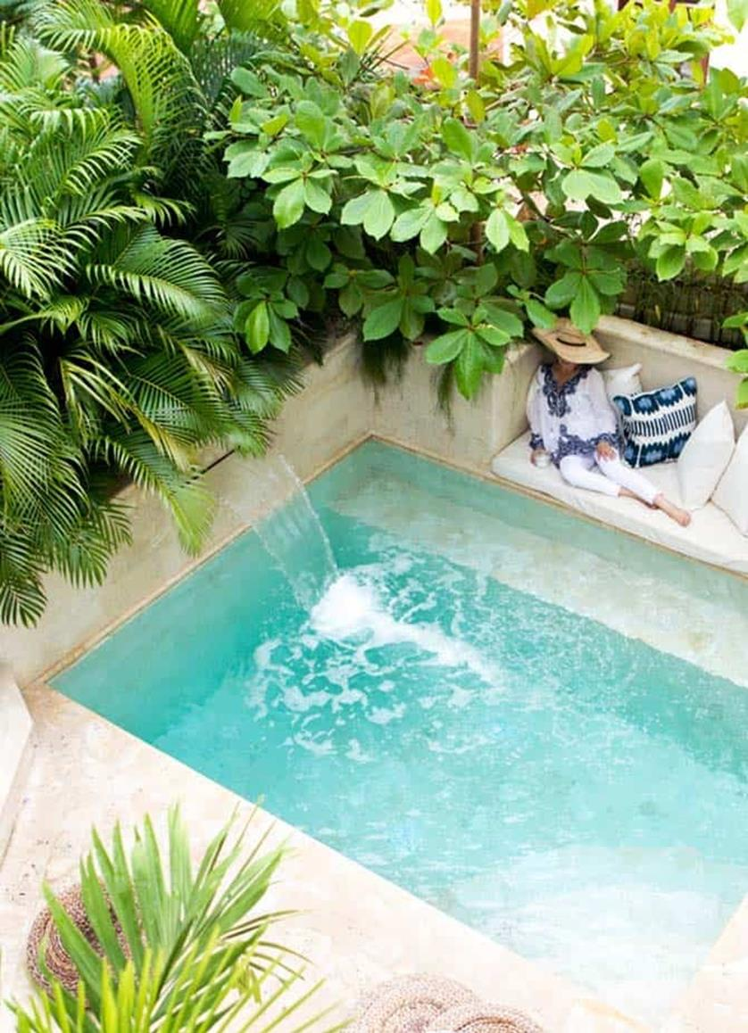 Affordable Small Backyard with Plunge Pool 25