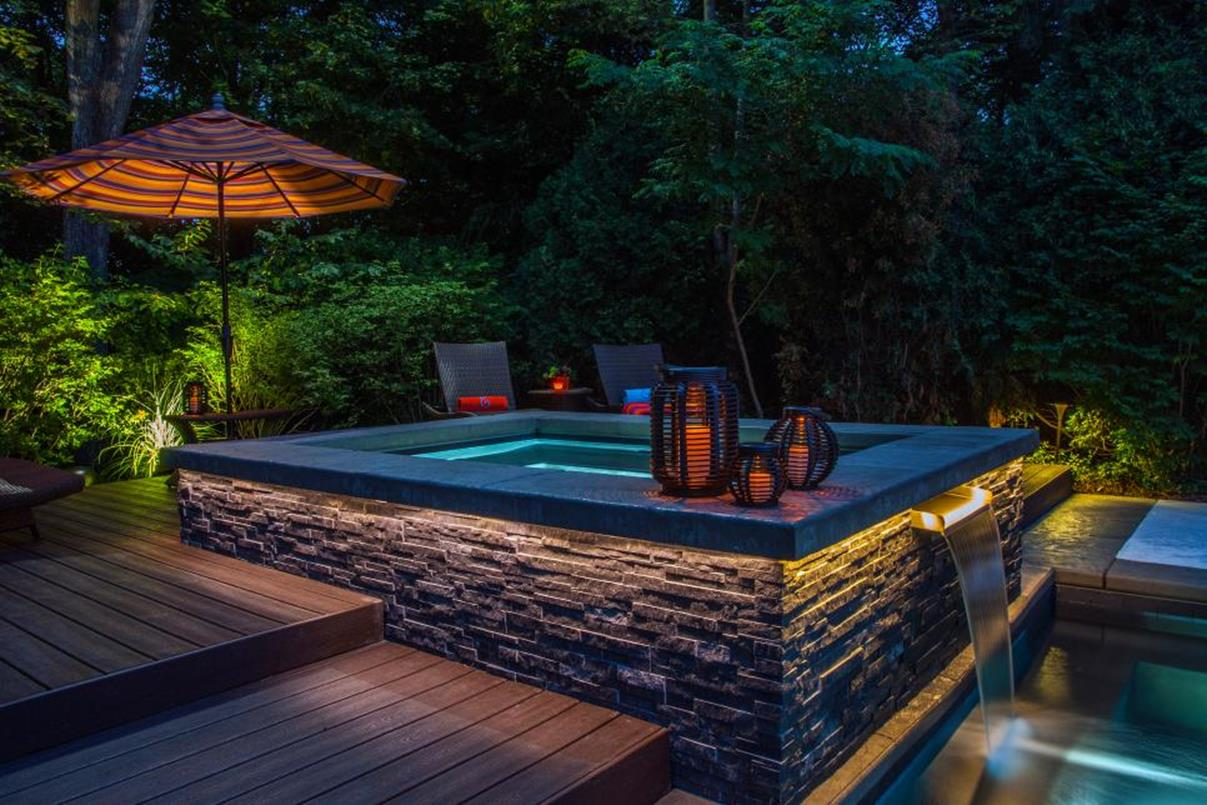 Affordable Small Backyard with Plunge Pool 37