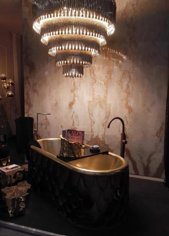Beautiful Bathroom with Crystal Chandelier 3