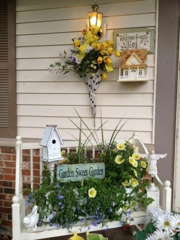 Country Spring Decorating Ideas On A Budget 31