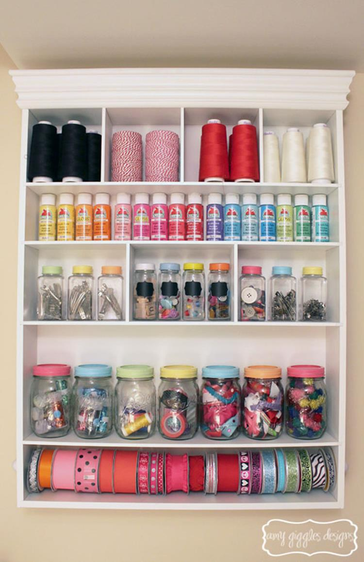 Craft Room Storage Organization Ideas On a Budget 10