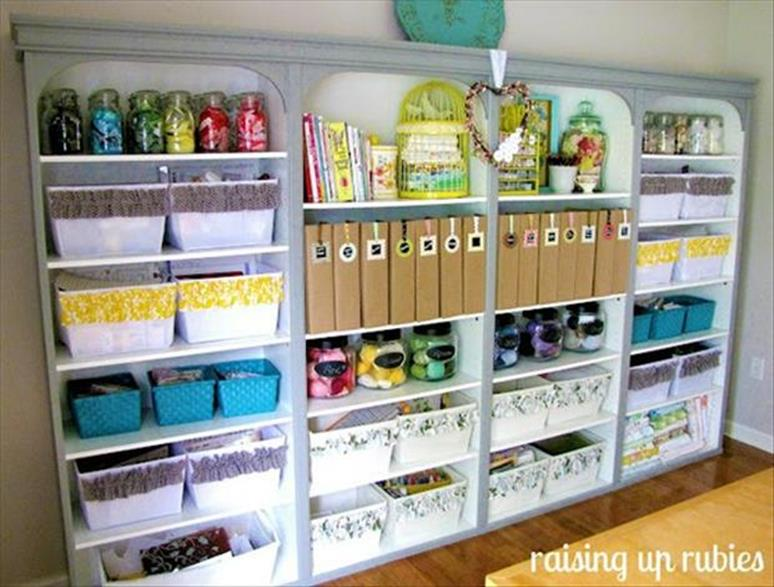 Craft Room Storage Organization Ideas On a Budget 17