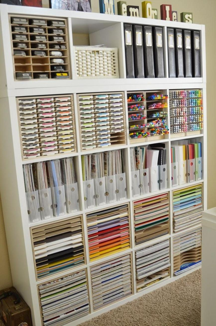 Craft Room Storage Organization Ideas On a Budget 31