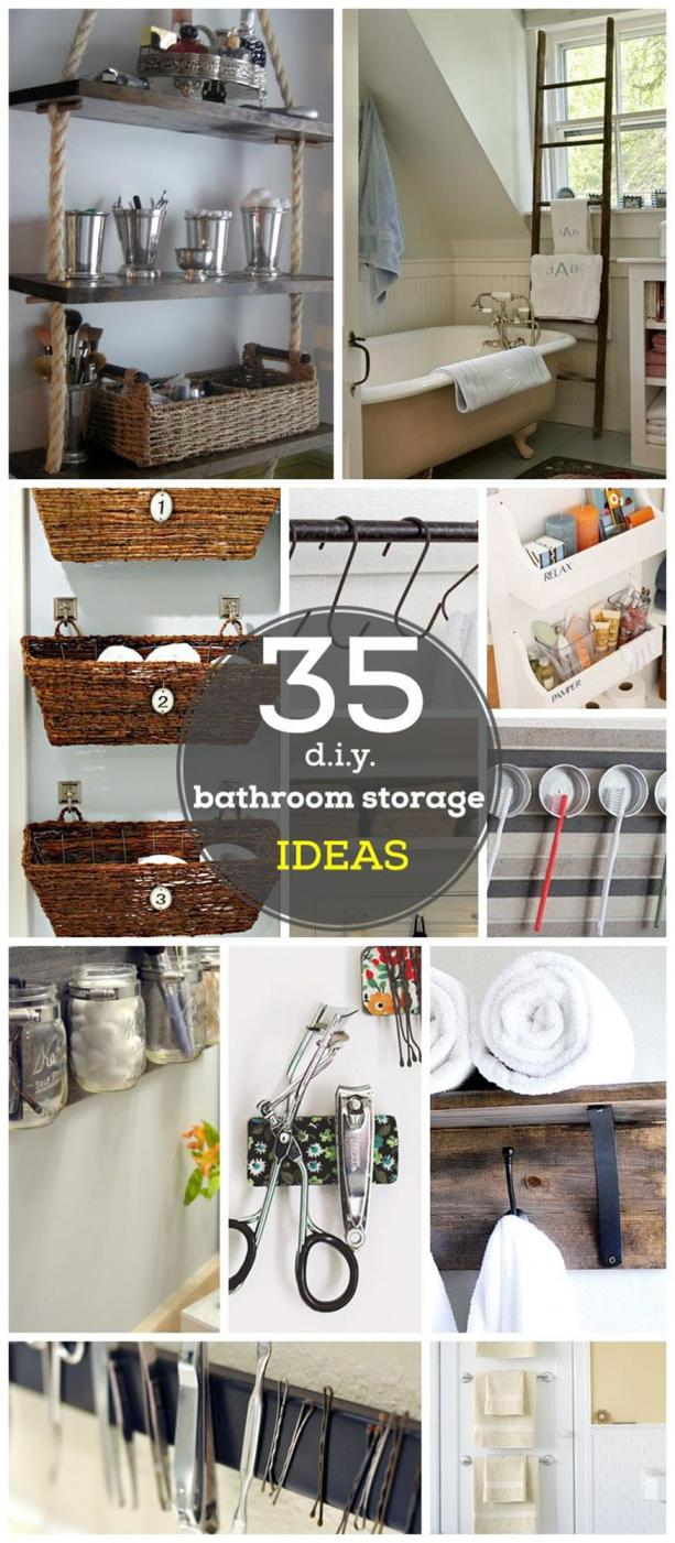 DIY Bathroom Organization Ideas On a Budget 1