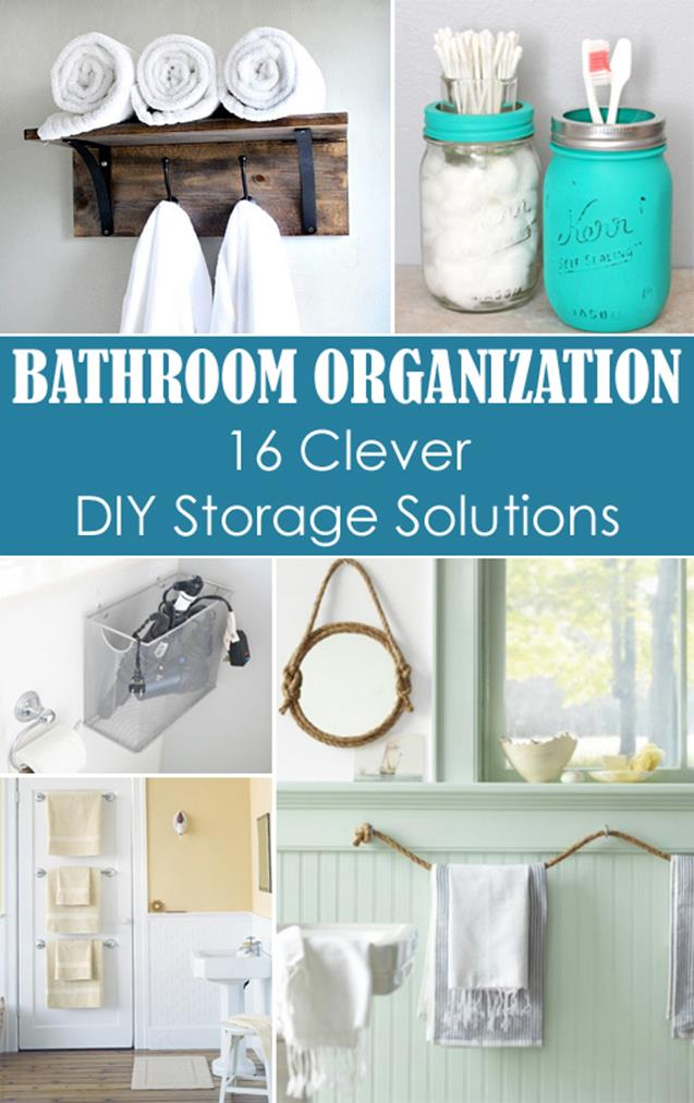 DIY Bathroom Organization Ideas On a Budget 6